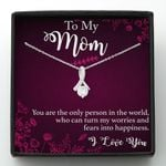 Mother day gift, gift for mom, To My Mom you are the only person in the world, who can turn my worries and fears into happiness