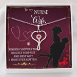 Stethoscope Necklace Nurse wife Best gift I have ever gotten