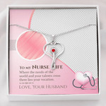 Stethoscope Necklace Nurse wife where the needs of the world ...