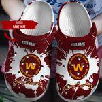CUSTOMIZED -WASHINGTON FOOTBALL TEAM CROCS - 12890DU