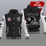 Personalized Raiders Hooded Varsity Jacket - 81406TP