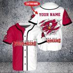 Custom Name Tampa Bay Buccaneers Baseball Shirt