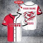 Custom Name Kansas City Chiefs Baseball Shirt
