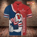 Sydney Roosters - Personalized Name 3D Polo Shirt - TT99-676