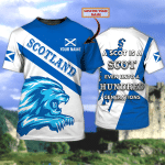 SCOTLAND - Personalized Name 3D Tshirt - HN95 - 677