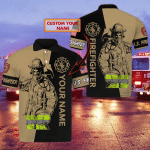 Firefighter - Personalized Name 3D Polo Shirt - Lta98 06