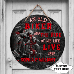 Custom Wooden Sign - Old biker and the ride of his life - Fuly104