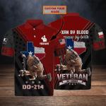 Texas Veteran - Personalized Name 3D Polo Shirt 113 - Nvc97