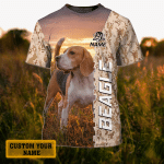 Beagle - Personalized Name 3D Tshirt 41 - TAD