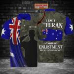 Australian Veteran - Personalized Name 3D Polo Shirt - Loop - Nt168 - Ct190