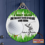Custom Wooden Sign - Golfer and his best score - Fuly105