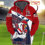 Sydney Roosters - Personalized Name 3D Zipper hoodie 76 - T2K