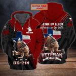 Texas Veteran - Personalized Name 3D Zipper hoodie 113 - Nvc97