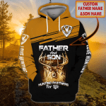 Father And Son Hunting - Personalized Name 3D Hoodie - TAD 82
