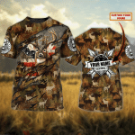 Deer hunting 2 - Personalized Name 3D Tshirt - TAD