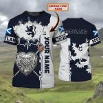 Scotland 002 - Personalized Name 3D Tshirt - HN95