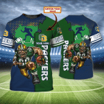 Green Bay Packers - Personalized Name 3D Tshirt - LTA98