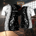 PIANO 01 - Personalized Name 3D Tshirt  - NBTT