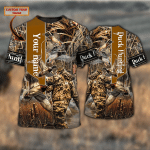 Duck Hunting - Personalized Name 3D Tshirt - TAD