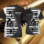 Piano - Personalized Name 3D Tshirt - NBTT 23