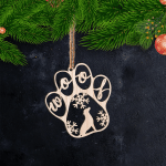Christmas Woof- Ornament Cut out 2 - PT97