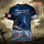 Navy Veteran - Personalized Name 3D Tshirt - Nvc97