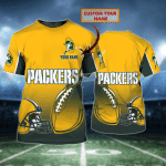 Packers - Personalized Name 3D Tshirt - Tad 140