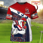 Sydney Roosters - Personalized Name 3D Tshirt 76 - T2K