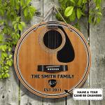 Custom Wooden Sign - Guitar Family - Dah 102