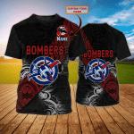 Essendon Bombers 1  - Personalized Name 3D TShirt - Loop -T2K
