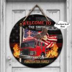 PROUD FIREFIGHTER FAMILY - Custom Wooden Sign 08 - LTA98