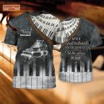 Piano 2 - Personalized Name 3D Tshirt - NBTT