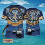 Shellback Navy - Personalized Name 3D Tshirt 05 - Nvc97