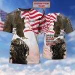 Veteran - Personalized Name 3D Tshirt 10 - Nsd99