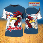 ROOSTERS - RB- Personalized Name 3D T Shirt - T2k-421