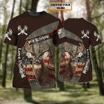 Love Hunting - Personalized Name 3D Tshirt - TAD