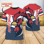 Rooster - Personalized Name 3D Tshirt 86 - T2K