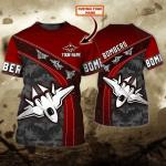 Essendon Bombers - Personalized Name 3D Tshirt - NVC97 110