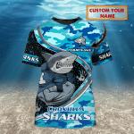Cronulla-Sutherland Sharks - Personalized Name 3D Tshirt 6868 - NVC97