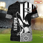 Collingwood Magpies - Personalized Name 3D Tshirt 82 - Nvc97