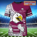 Sea Eagles - Personalized Name 3D Tshirt - NVC97