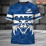 Geelong Cats - Personalized Name 3D Tshirt 85 - Nvc97