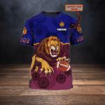 Brisbane Lions - Personalized Name 3D Tshirt 01- NVC97