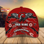 St. George Illawarra Dragons - Personalized Name Cap 01- Nvc97