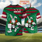 Rabbitohs - Personalized Name 3D Tshirt - NVC97