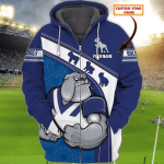 Bulldogs - Personalized Name 3D Zipper hoodie 77 - Nvc97