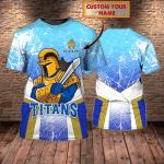 Gold Coast Titans 48 - Personalized Name 3D Tshirt - NVC97