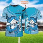 Cronulla-Sutherland Sharks 44 - Personalized Name 3D Tshirt - NVC97