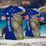 AUSTRALIA - Personalized Name 3D Tshirt 1 - NVC97