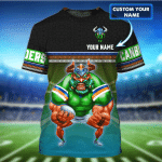 Canberra Raiders - Personalized Name 3D T-Shirt - Nvc97